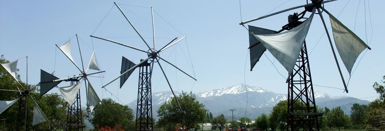 Windmills in Agios Georgios, Lasithi Plateau, Crete