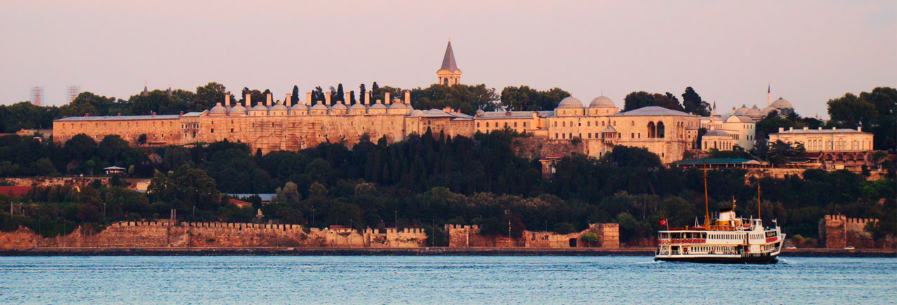 Topkapi Palace, as seen from across the Bosphorus