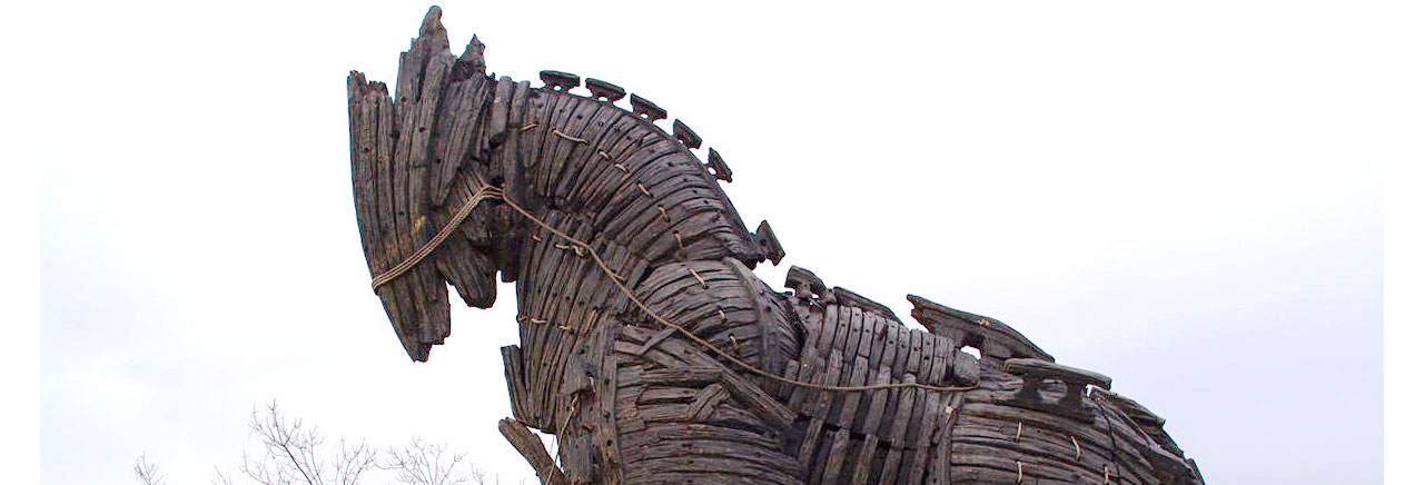 The maquette horse from the 2004 film Troy - a present to Canakkale from Brad Pitt