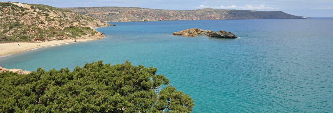 The bay of Vai, Crete